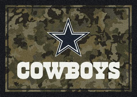 Dallas Cowboys Area Rug Nfl Camo 3025 Dallas Cowboys Area Rug By Milliken Carpetmart