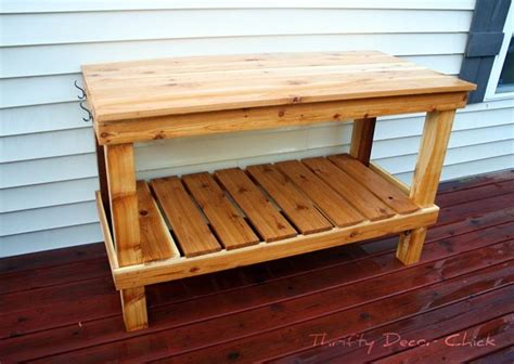 pottery bench plans potting table thrifty decor chick outdoor craft pinterest