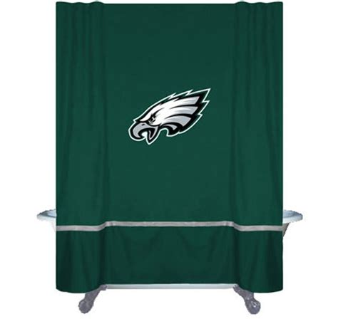 philadelphia eagles bathroom set nfl philadelphia eagles mvp shower curtain football