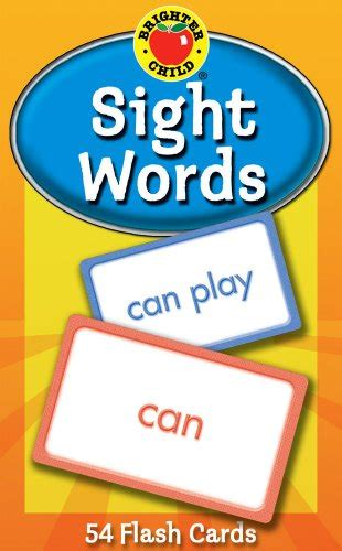 sight words brighter child sight words flash cards brighter child flash cards 087577941707 toolfanatic com