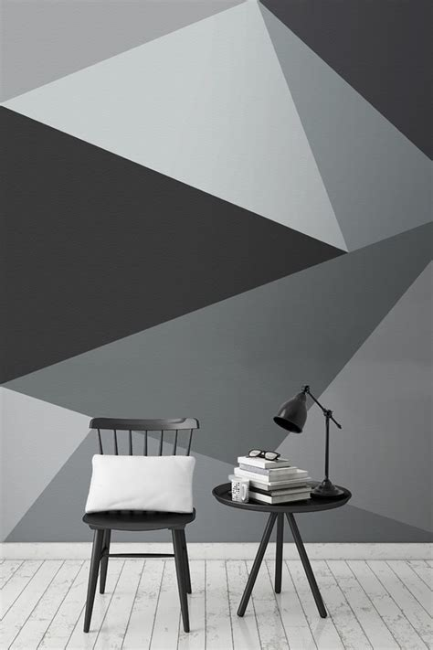convex wall mural living space geometric wall paint