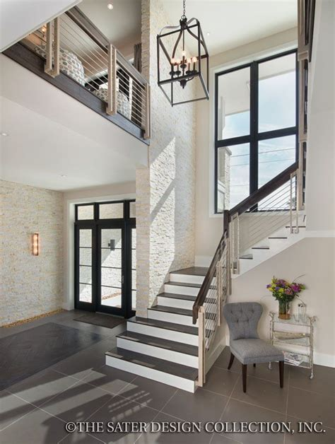 Modern Home Foyer Moderno House Plan House Plans Luxury House Plans And Home