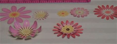 How To Make Flat Paper Flowers - tutorial make flat flowers 3d scrap booking