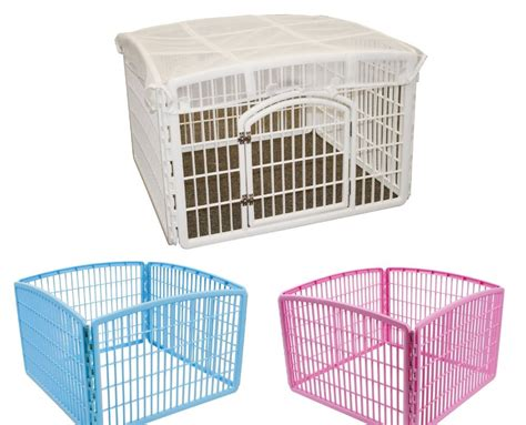 indoor puppy playpen play pen iris indoor outdoor puppy cage exercise kennel folding crate fence ebay