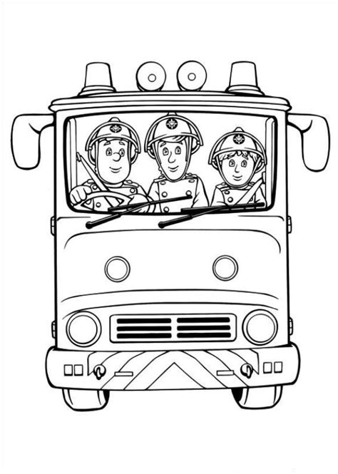 Fireman Sam Coloring Pages by Free Coloring Pages Of Fireman Sam Engine