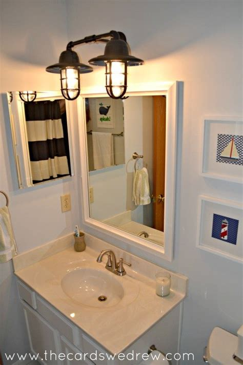 small nautical bathroom nautical bathroom makeover hometalk