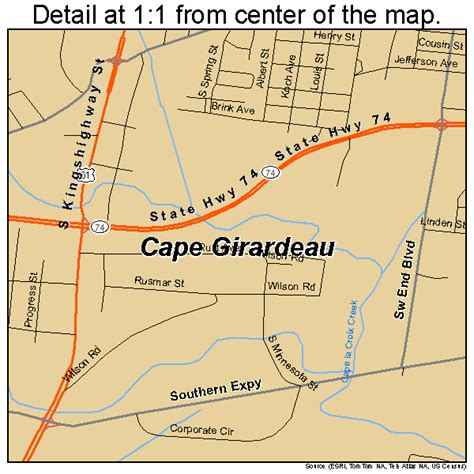 missouri map cape girardeau cape girardeau missouri map 2911242