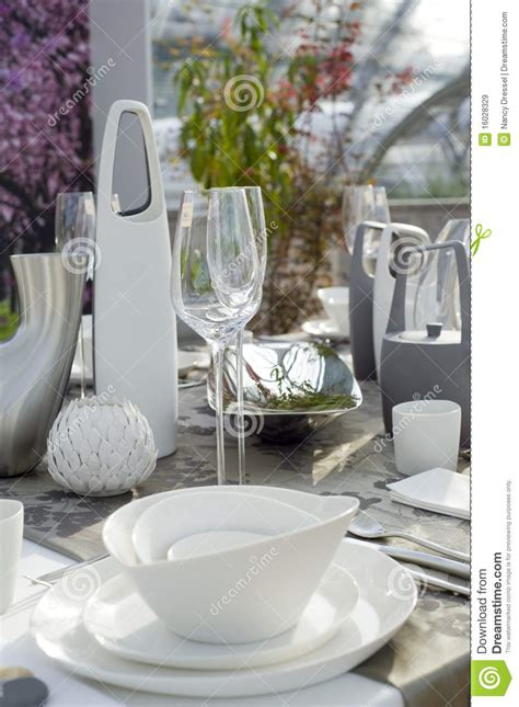 modern table settings modern table setting royalty free stock images image
