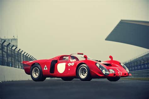 vintage alfa romeo race cars 1968 alfa romeo tipo 33 2 daytona silodrome