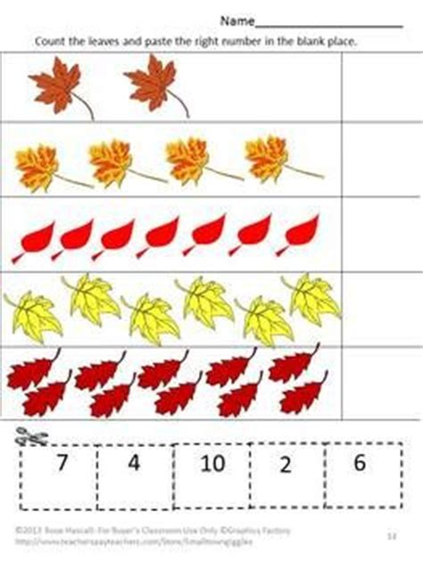 Fall Cut And Paste Worksheets by Falling Autumn Leaves Cut And Paste Worksheet Set Pre K K