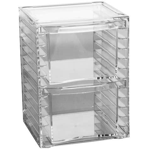 Acrylic Storage Drawers by Two Drawer Acrylic Storage Chest In Craft Storage
