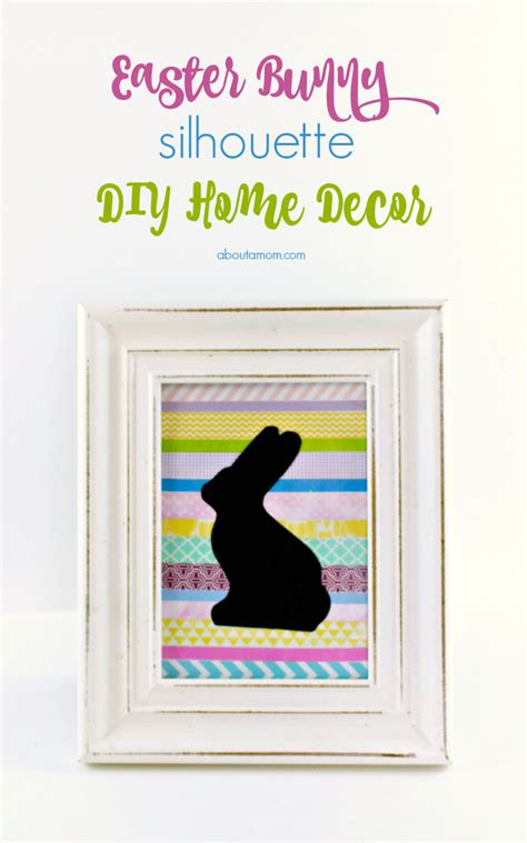 silhouette home decor easter bunny silhouette diy home decor about a mom