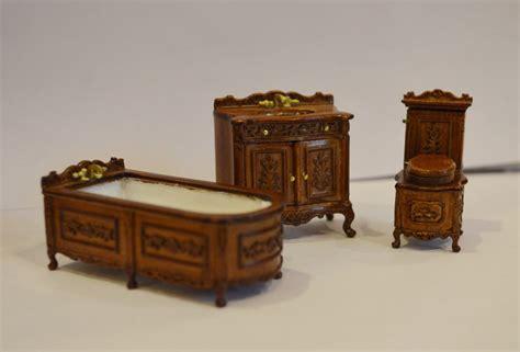 1 24 scale dolls house furniture dollhouse 1 24 half scale furniture h23052wn 3 pc bathroom set ebay
