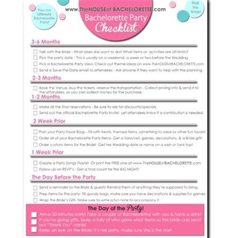 Printable Bachelorette To Do List | a free bachelorette party checklist bachelorette party