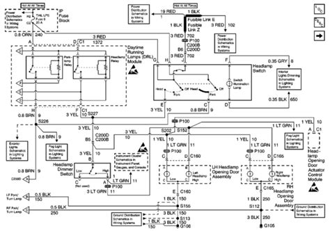 chevy silverado headlight wiring diagram