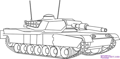 Tank From Ww1 Coloring Pages Army Tank Coloring Page