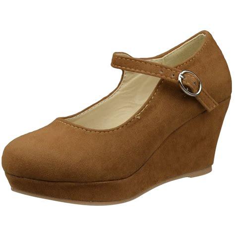 dress shoes ankle closed toe wedge platform