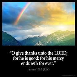 psalm of thanksgiving kjv psalms 136 1 inspirational image