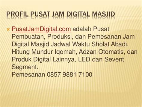 Jadwal Sholat Abadi Murah Berkualitas 145x65cm jual jam sholat digital di jakarta murah bergaransi