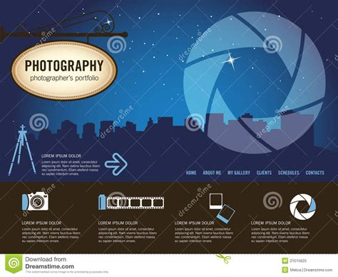 photography website template royalty free stock photo