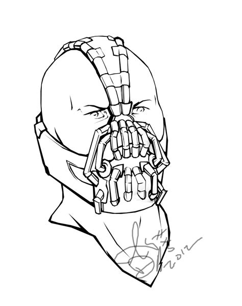 bane coloring book page by lexophile42 on deviantart