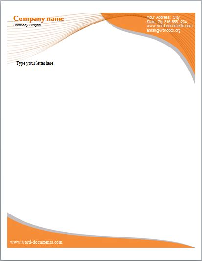 Ms Word Letterhead Templates by Letterhead Template Word Cyberuse