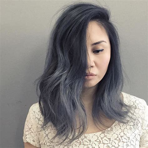 black grey hair hair color trend for women silver and gray