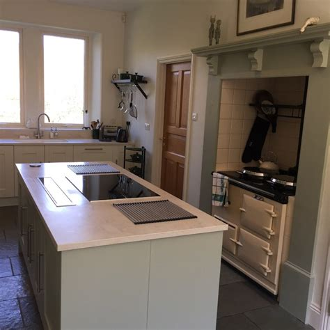 Worktops Similar To Corian Crown Imperial Gala Grey Green And Oyster Kitchen With