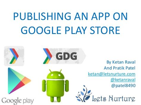 publishing an app for play store