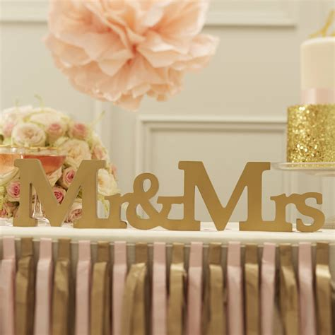 gold mr and mrs table sign mr and mrs gold wooden wedding sign by ginger ray