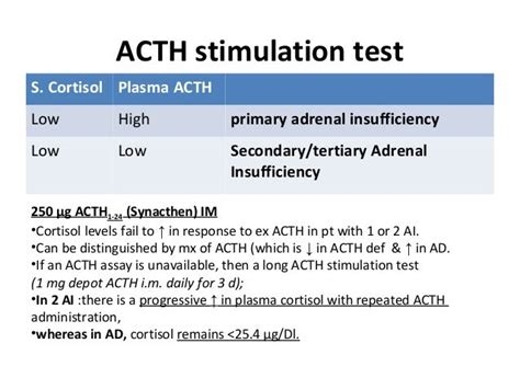 acth stimulation test 25 best ideas about acth stimulation test on s disease symptoms