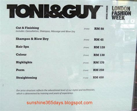 list of hairstyle prices toni and guy haircut prices harvardsol com