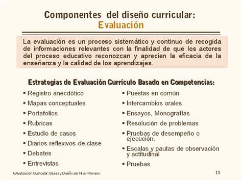 Modelo De Evaluaciã N Curricular De Actualizaci 243 N Curricular Bases Y Dise 241 O Nivel Primario Monografias