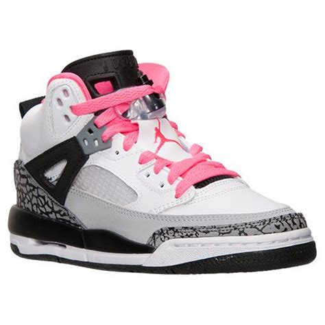pink and white basketball shoes grade school spizike basketball shoes