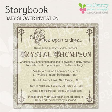Storybook Baby Shower Invitations by 53 Best Images About Baby Shower On Themed
