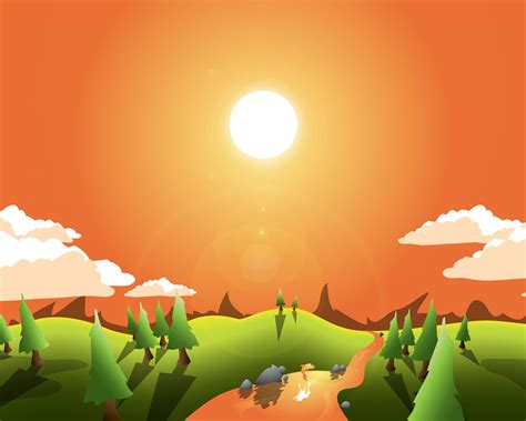 vector wallpaper tutorial how to create a landscape wallpaper for your desktop
