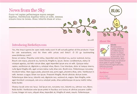 blogs template free templates for and plantillas