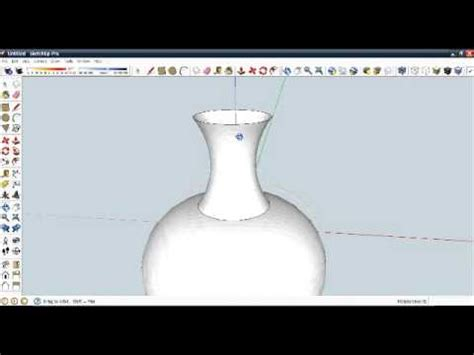 google sketchup vase tutorial how to create a flower vase in google sketchup youtube