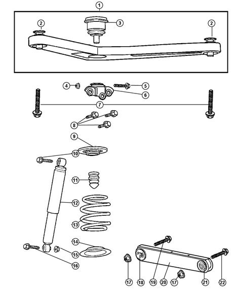 Jeep Liberty Suspension Parts 2003 Jeep Liberty Suspension Rear And Shock
