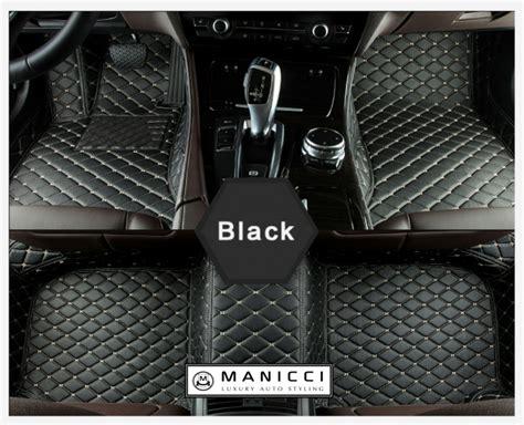 manicci luxury custom fitted car mats black