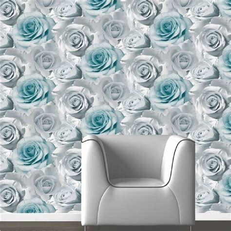 Urban Trends Home Decor by Muriva Madison Rose Floral Photographic Flower Wallpaper