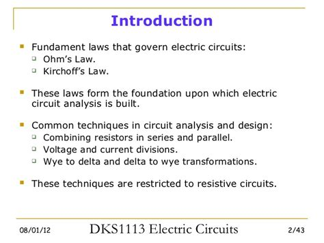 introduction to resistors in series and parallel electric circuits chapter 2 basic laws
