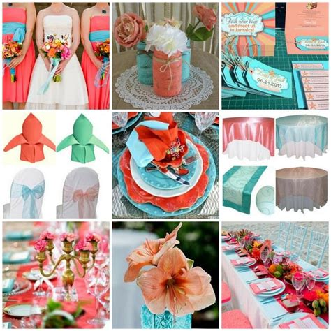 coral and turquoise wedding ideas wedding ideas turquoise weddings colors and