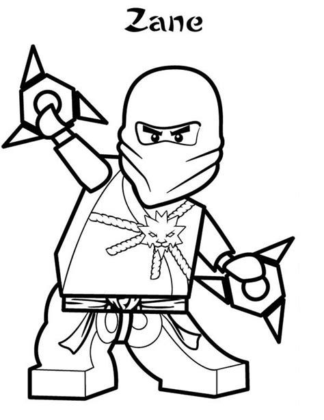 The Black Ninja Of Earth In Lego Ninja Go Coloring Pages