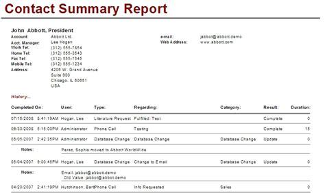 saleslogix contact level reports customer fx