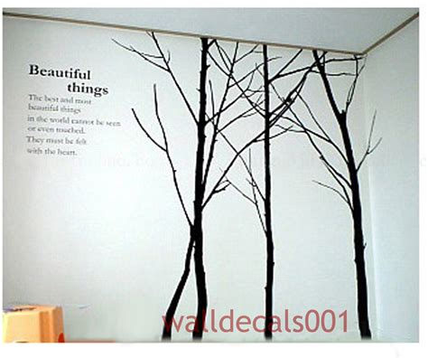 Living Room Wall Decal Tree Tree Wall Decal Wall Sticker Winter Tree Decals Living Room