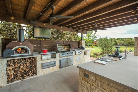 outdoor kitchen designs with pizza oven 95 cool outdoor kitchen designs digsdigs