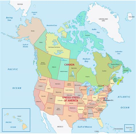 canada map guide   world