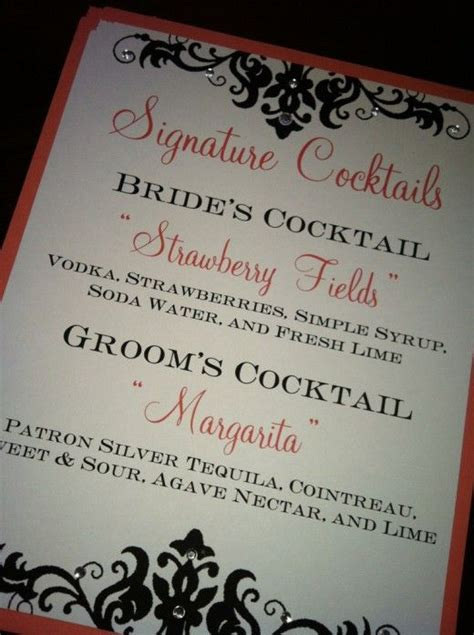 wedding signature drink signs