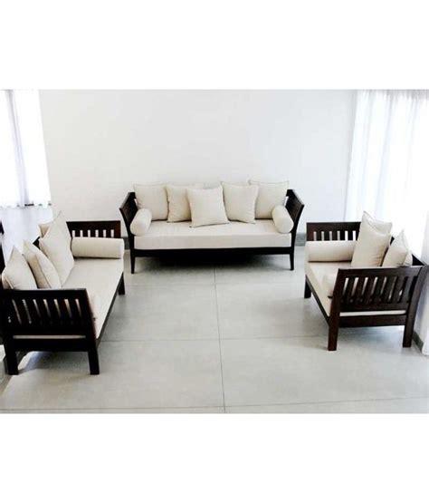 buy wooden sofa set online india furny wooden sofa set extra spacious 3 plus 2 plus 1